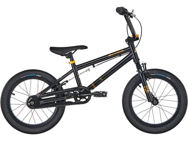 s'cool XtriX mini 16 Enfant, black/gold matt